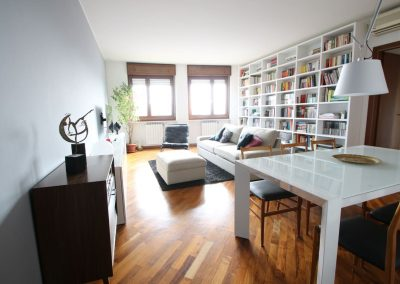 Progetto di interni di appartamento quadrilocale